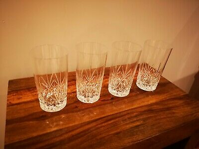 Cut Glass Highball/Tall Tumbler X 4 - EXCELLENT CONDITION • 4.20£