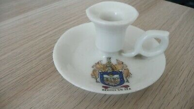 Gemma Crested Ware Candle Holder-Bexhill On Sea • 2.50£