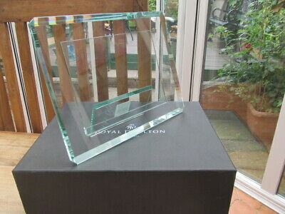 Royal Doulton Bevelled Crystal Picture Frame In Box, Modernistic  • 19.99£