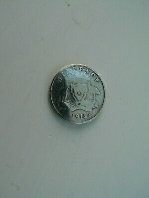 Early Australian Silver Sixpence 1912 -king George V • 3.99£
