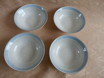 4 Churchill Dinning In Lichen Cereal, Soup Or Desert Bowls. • 3.99£