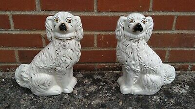 Antique Staffordshire Fireside Dogs (Pair) • 150£