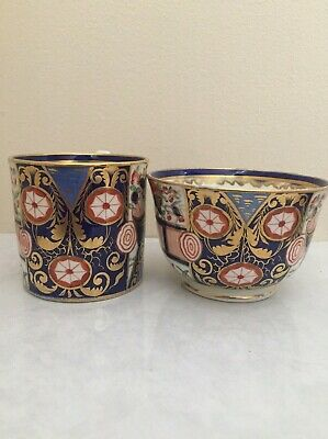 Derby Porcelain Richly Imari Decorated Coffee Can & Tea Cup C1820 • 4.99£