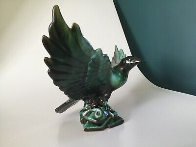 Gorgeous Blue Mountain Pottery Canada Eagle  Large Green Ceramic • 25£