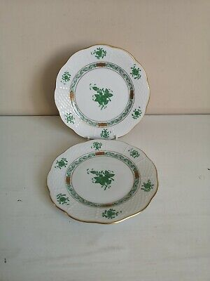 Pair Of Herend  Chinese Bouquet (Green)  Side Plates • 29.99£