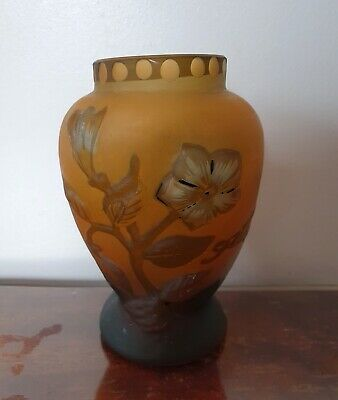 French Galle Vase With Flowers 12.5cm Height • 99£