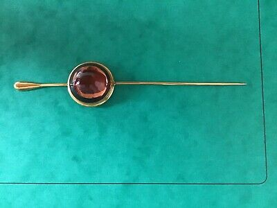 Lalique Amber Crystal Stick Hat Pin/Brooch • 30£