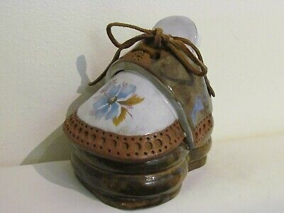 """Shoe Shaped Planter """"the Clay Cobbler"""" Charming American Art Pottery • 18£"""