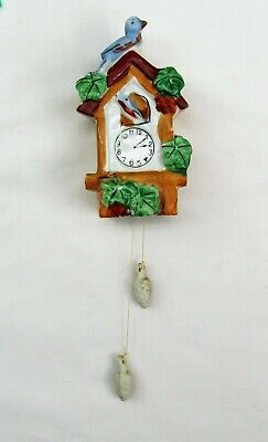 Vintage Coo Coo Clock Porcelain Wall Pocket Rare With Blue Bird Made In Japan • 13.92£