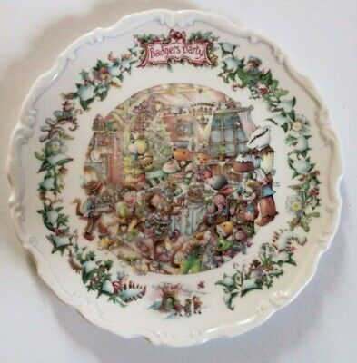 Royal Doulton Badgers Party Plate - Wind In The Willows • 17£