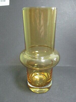 Riihimaki Studio Art Glass Vase - Golden Amber - Tamara Aladin - Pattern 1562 • 35£