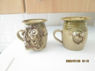 Two Pretty Ugly Welsh Studio Pottery Mugs  • 6.99£