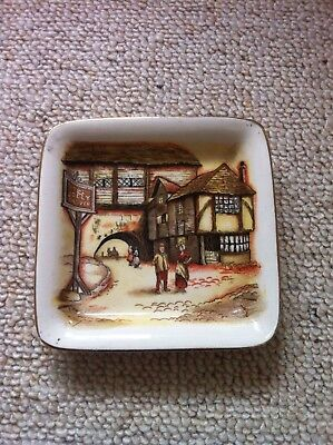 Vintage Sandland Ware - The Jolly Drover - Small Square Dish • 2£