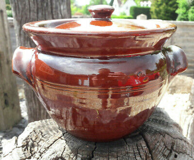 Moira Pottery Stoneware Ceramic Lidded Cooking Pot Or 2 Handled Casserole • 10£