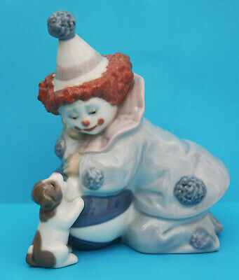 Genuine Lladro Figurine  Pierrot With Ball And Puppy  5278 Retired • 29.99£