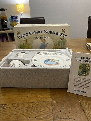 Peter Rabbit Nursery Set By Wedgewood Perfect Condition Vintage Collectible • 8.50£