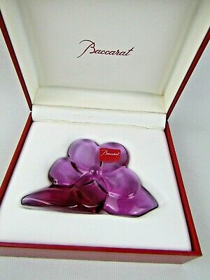 Baccarat  France Art Glass ORCHID In Presentation Box Pre Owned • 50£