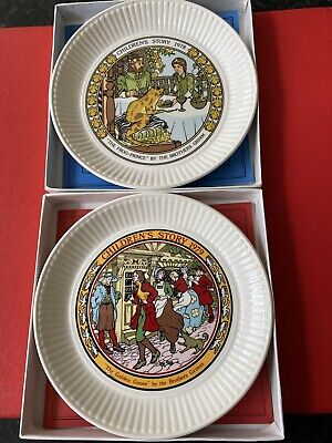WEDGWOOD - Children's Story - Two Collectable Plates From 1978 & 1979. • 19.99£