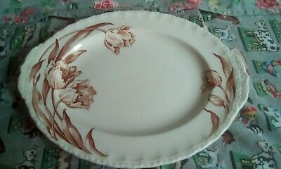 Grindley Pottery Oval  Tulips  Plate • 4£