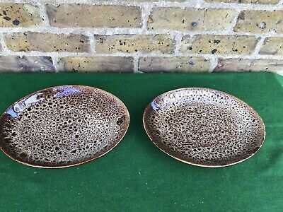 2 Vintage Fosters Pottery (Cornwall) Honeycomb Pattern Oval Dining Plates • 17.50£