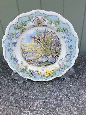 Royal Doulton Brambly Hedge Plate 'The Picnic' Complete With Original Box • 12.50£