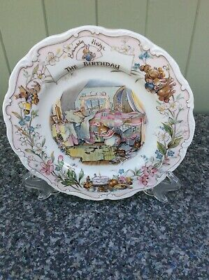 Royal Doulton Brambly Hedge Plate 'The Birthday' Complete With Original Box • 7.50£