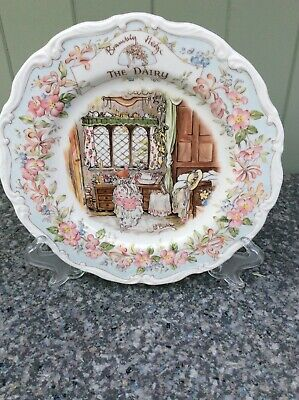 Royal Doulton Brambly Hedge Plate 'The Dairy' Complete With Original Box • 6£