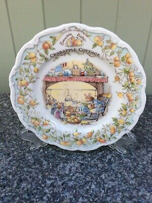 Royal Doulton Brambly Hedge Plate 'Crabapple Cottage' Complete With Original Box • 6£