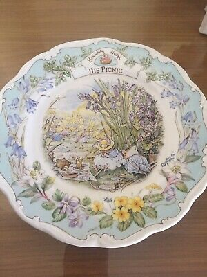 Brambly Hedge Plate The Picnic  Royal Doulton 1st Quality • 7£