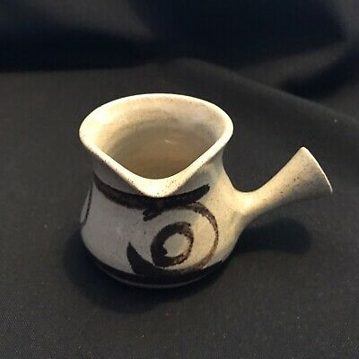 Vintage Wales Abaty Stone Ware Pottery Small Jug Pourer 6cm Height • 5£