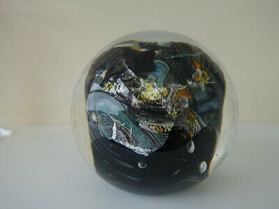 Superb Large  Signed Glass Studio Paperweight, Amazing Design  • 15£
