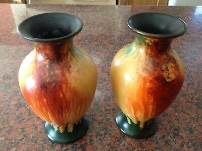 Early1920s Vase In Beautiful Fire Colours CYPLES OLD POTTERY. ENGLAND No 1793. • 5£