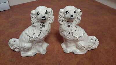 Antique Victorian Staffordshire Dogs 13  High  • 15£