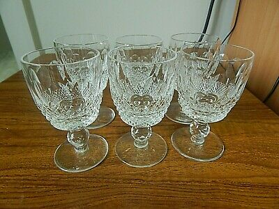 Set Of 6 Waterford Crystal COLLEEN Port Wine Glasses, 4 Ins. • 41£