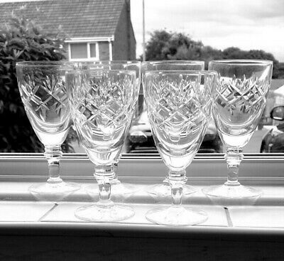 Pretty Sherry Glasses VGC Used Condition Set Of Six • 2.90£