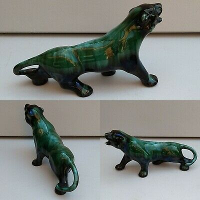 Blue Mountain Pottery Prowling Panther Wild Cat Tiger  • 12.99£