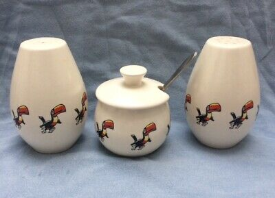 Running Toucan - Vintage Guinness Carlton Ware Cruet Set- In Very Good Condition • 34.99£