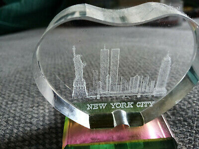 New York City 3d Etched Glass • 10£