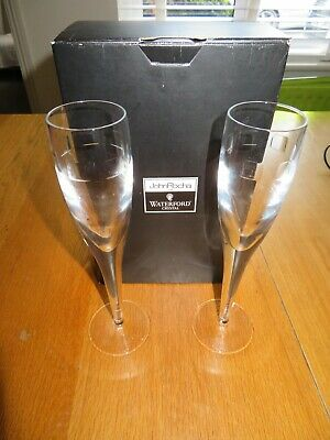 John Rocha For Waterford Crystal Geo Glassware Cut Crystal Champagne Flute • 40£