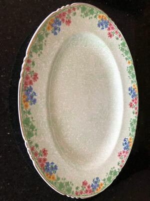 Rare Antique John Maddock & Sons Royal Vitreous Oval Meat Plate • 25£