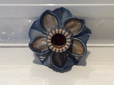 Wade Flower Candlestick/ Candle Holder • 2.50£