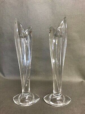 Marquis By Waterford Crystal Stylish Pair Candlesticks 10  • 4.99£