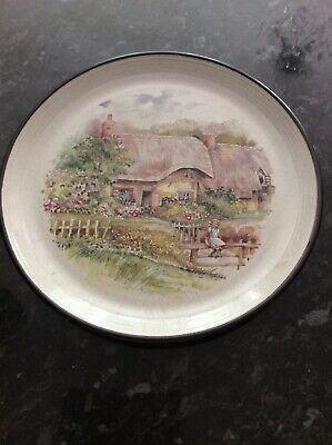 Vintage Purbeck Pottery Cottage Scene Large Plate  • 9.90£
