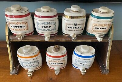 Royal Victoria Wade Pottery 7 Barrels And Stand • 20£