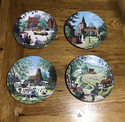 """""""The Darling Buds Of May"""" Royal Worcester Plate Set Of Four. • 20£"""