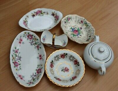 Vintage Mixed Lot 6 Items All Marked With Maker Bargain Sugar Dish,trinket Dish • 1£