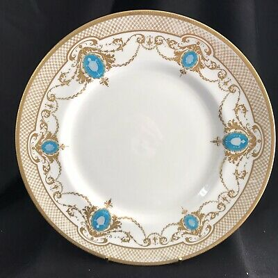 Vintage Rare Royal Doulton Marshall Field Gold Embossed Cabinet Display Plate • 8£
