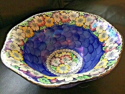 Maling Art Deco Lustre Ware Large Garland Footed Fruit Bowl • 14.99£