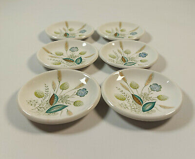 6 Unusual Vintage Woods & Son Clovelly Tiny Shallow Dishes • 13.99£