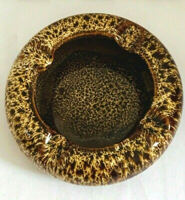 Vintage Honeycomb Drip Glaze Pot Ashtray Kernewek Fosters   • 24.99£